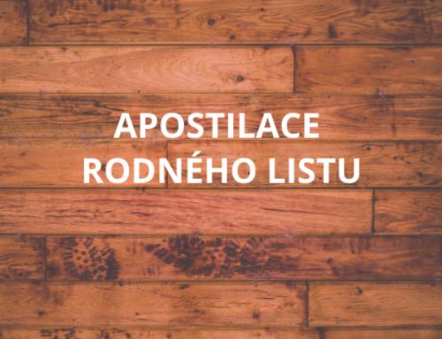 Proč si vyřídit vydání doložky (apostily) k rodnému listu?