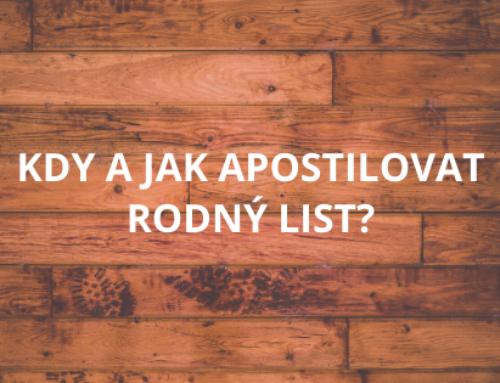 Kdy a jak apostilovat rodný list?