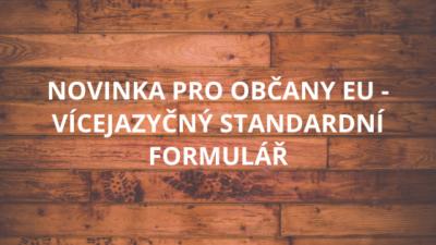 Vícejazyčný standardní formulář