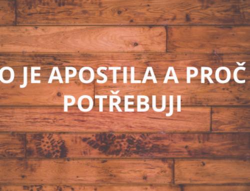 CO JE APOSTILA A PROČ JI POTŘEBUJI